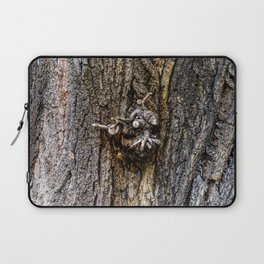 Tree bark with branch stump Laptop Sleeve