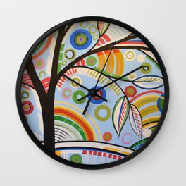 Abstract Art Landscape Tree Painting ... The Sound of Sunshine 3 Wall Clock