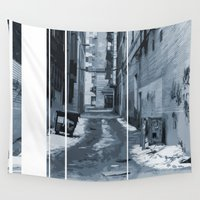 montreal Wall Tapestries featuring versoning 2.0 - Montreal - Alley by Doug Dugas