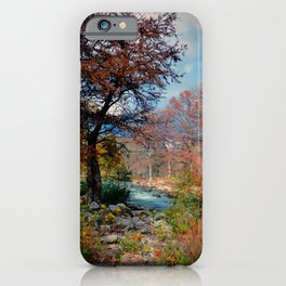 Fall Colors on Guadalupe River iPhone Case