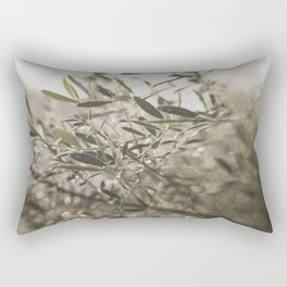 Olive Tree Leaves in the Mist Rectangular Pillow