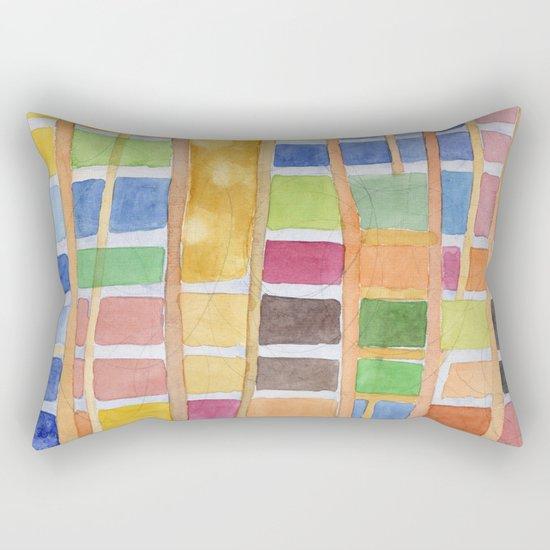 Rectangle Pattern With Sticks Rectangular Pillow
