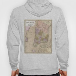 Vintage Map of New York City (1839) Hoody