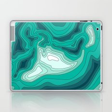 ocean dephts map Laptop & iPad Skin