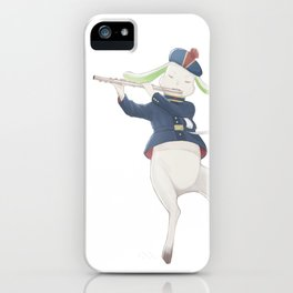 rabbit musician iPhone Case