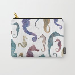 Colorful Seahorses Carry-All Pouch