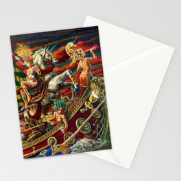 Party Boat to Atlantis Stationery Cards