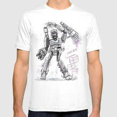 Megatron Contest Weirdo White Mens Fitted Tee SMALL