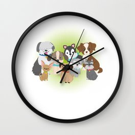 Dog Squad Dog Rescue Animal Doggie Puppy Lovers Pet Owners Gift Wall Clock