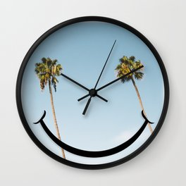 Smiley Face Palms Wall Clock