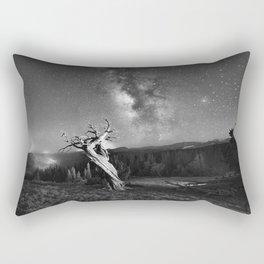 Under Starry Sky At Night Rectangular Pillow