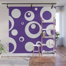 Circles Dots Bubbles :: Grape Juice Wall Mural