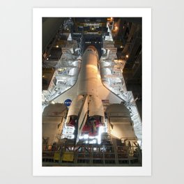 687. Space Shuttle Endeavour is Ready for its Slow Move from High Bay 3 Art Print