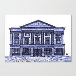 Shrewsbury Museum and Art Gallery, Blue Canvas Print