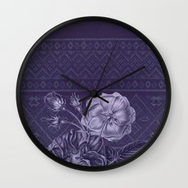 Flower - Argyle Wall Clock