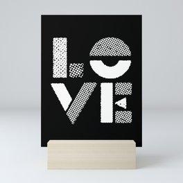 Love black and white contemporary minimalist typography design home wall decor bedroom Mini Art Print