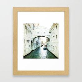The Bridge of Sighs - Venice Framed Art Print