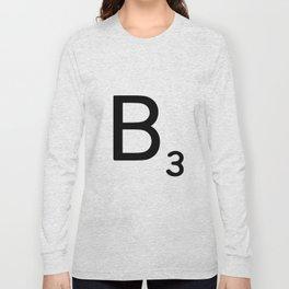 Letter B - Custom Scrabble Letter Wall Art - Scrabble B Long Sleeve T-shirt
