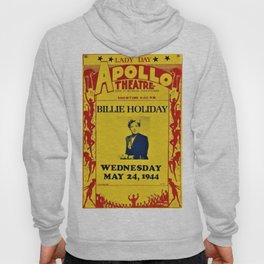 1944 Billie Holiday Concert Poster Apollo Theater Hoody