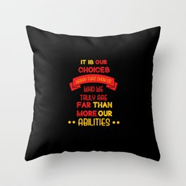 Harry Potter Quote Throw Pillow