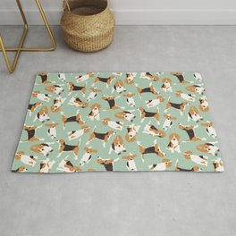 beagle scatter mint Rug