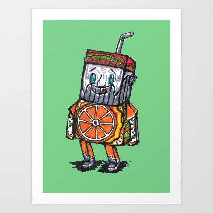 Paper toy juicy Art Print