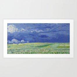 Wheatfield under Thunderclouds Art Print