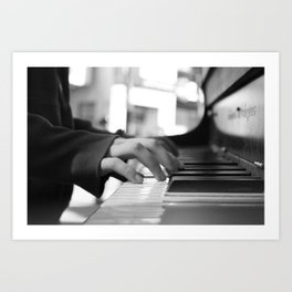 Lost and found piano Art Print
