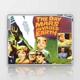 The Day Mars invaded Earth, vintage sci-fi movie poster Laptop & iPad Skin
