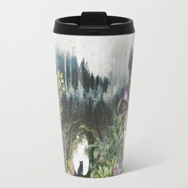 Cat in the Garden of Your Mind Travel Mug