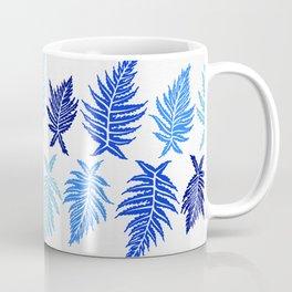 Inked Ferns – Blue Palette Coffee Mug