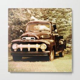 Ford in a Field Metal Print
