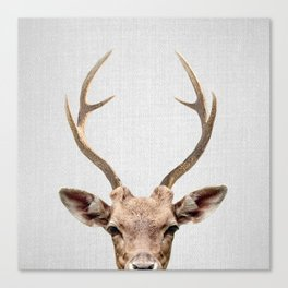 Deer - Colorful Canvas Print