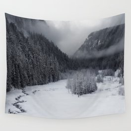 Snowy Morning Wall Tapestry