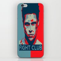 tyler spangler iPhone & iPod Skins featuring Tyler Durden by Jason Vaughan