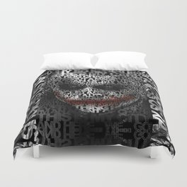 Halloween Psycopath Clown Typograph apple iPhone 4 4s 5 5s 5c, ipod, ipad, pillow case and tshirt Duvet Cover