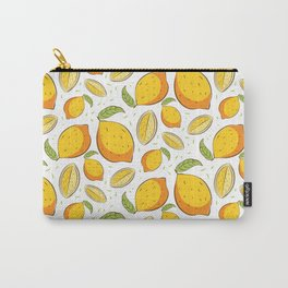 Citrus Fruit Lemon Food Pattern Gift Carry-All Pouch