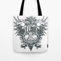 new order Tote Bags featuring New World Order by Tshirt-Factory