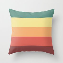Retro Stripes Throw Pillow