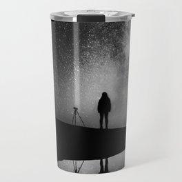 Finland and Galaxy (Black and White) Travel Mug