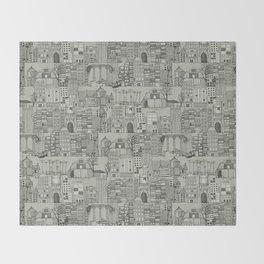 dystopian toile mono Throw Blanket