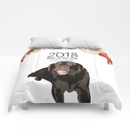 Year of the Dog - Chocolate Labrador Comforters