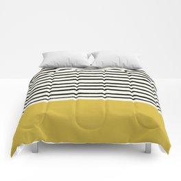 Mustard Yellow & Stripes Comforters