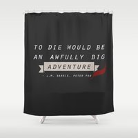 peter pan Shower Curtains featuring peter pan by felicitytsee