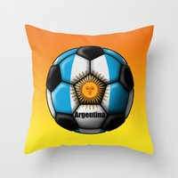 argentina Throw Pillows featuring Argentina Ball by kuuma