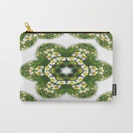 Little White Wildflower Kaleidoscope Art 3 Carry-All Pouch