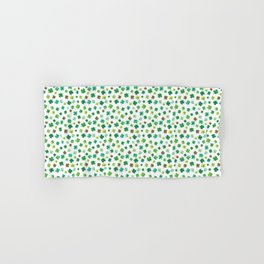 Lucky Watercolor Clovers Hand & Bath Towel
