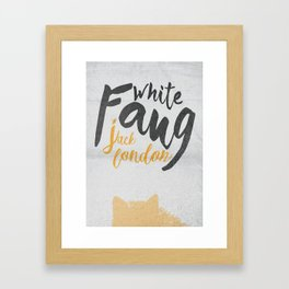 White Fang, Jack London book cover, poster, old classic, penguin book Framed Art Print