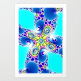 """""""Chaos Of Light"""" Spiral Fractal Art Print Art Print"""