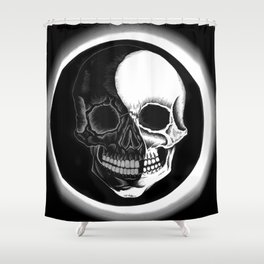 Eclipsed Skull Shower Curtain